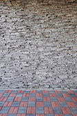 Stone Wall and floor — Stock Photo