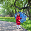Stock Photo: Girl in spring garden