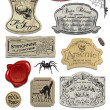 Fun Halloween Spoof Labels Set 2 — Stockvectorbeeld