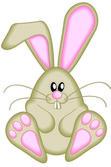 Cute Vector Easter Bunny — Stock Vector