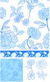 Floralpatternblue — Stock Vector