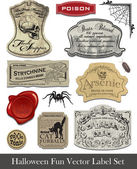 Fun Halloween Spoof Labels Set 2 — Stock Vector