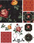 Gypsy Folk Art inspired Vector Seamless Patterns. — Stock Vector
