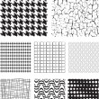 Seamless Repeat Vector Pattern Textures and fills. — Stock Vector