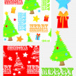 Xmastrees — Stock Vector