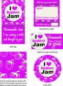 Raspberryjamlabel1 — 图库矢量图片