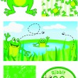 Vector Frog Elements — Stock Vector