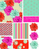 Bright Floral Vector Patterns — Stock Vector