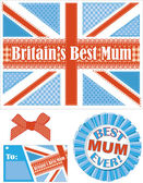 Best Mum Vector Greeting Card and elements. — Stock Vector