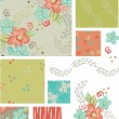 Spring Flower Vector Seamless Patterns and elements. — Stock Vector