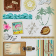 Travel Scrapbooking Element Set. — Stock Vector #22012731