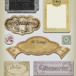 Vintage Inspired label set. — Stock Vector