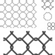 Wire Fence Vector Seamless Patterns and Elements. — Stock Vector