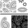 Vector Paisley Seamless Patterns. — Stock Vector #22370051