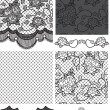 Gothic Style Lace Vector Floral Seamless Patterns. — Stock Vector #27560867