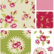 New Rose Floral Vector Seamless Patterns. — Stock Vector #27560895