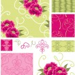 Spring Floral Vector Seamless Patterns. — Stock Vector