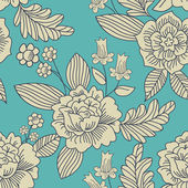 Contemporary Floral Vector Seamless Pattern. — Stock Vector