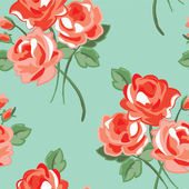 Pretty Rose Seamless Vector Pattern. — Stock Vector