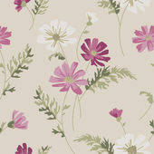 Meadow Flower Vector Seamless Pattern. — Stock Vector