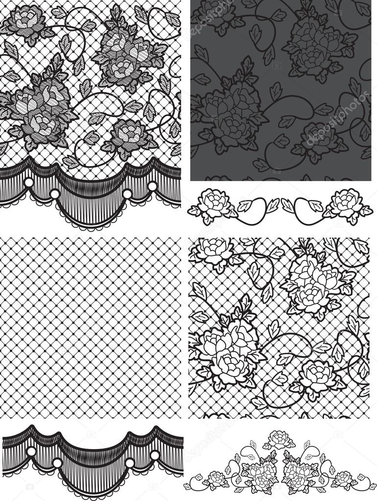 Gothic Style Lace Vector