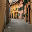 Old medieval street in Lucca — Stock Photo