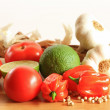 Stock Photo: Mexicvegetables including lime fruit, garlic, chili