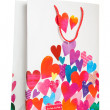 White paper bag with many hearts — Stock Photo #19583761