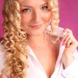 Stock Photo: Beautiful blonde girl with curly hair