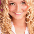 Smiling beautiful blonde girl — Stock Photo