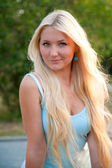Beautiful blonde woman — Foto Stock