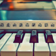 Synthesizer Keyboard — Stock Photo