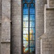 stained-glass vitrage window — Stock Photo