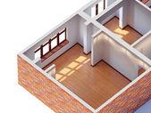 Hus interiör planering — Stockfoto