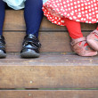 Four Little Feet — Stock Photo