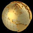 Stock Photo: Gold globe