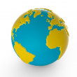 Toon globe — Stock Photo
