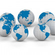 Stock Photo: World globe - isolated