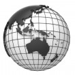 Stock Photo: Globe with extruded map of Australiand Asia