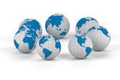 World globe - isolated — Stock Photo