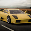 Yellow sport car — Stock Photo