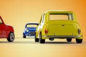 Mini cars — Stock Photo