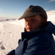Stock Photo: Boy in snow mountain