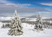 Snow mountain — Stockfoto
