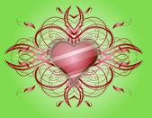 Valentines heart. — Stockvektor