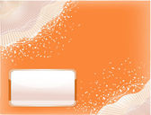 Orange background with lines — Stock Vector