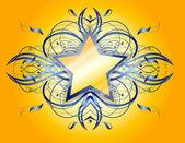 Forma astratta con stella. — Vettoriale Stock
