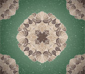 Vintage background with ornament — Stock vektor