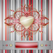 Royalty-Free Stock Vector Image: Red - gray background with heart.