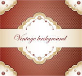 Vintage red background — Stock Vector